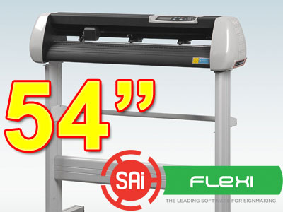 "SK1350T 54"" VINYL CUTTER with PC Flexi 11 CONTOUR(free shipping) - Click Image to Close"