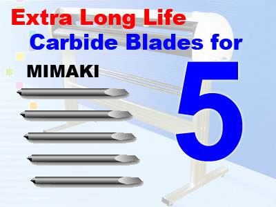 5 Packs MIMAKI / PCut Compatible Blades, Qty Dis (free shipping)