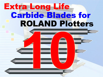 10 Packs Roland / Seiki Compatible Blades (free shipping)