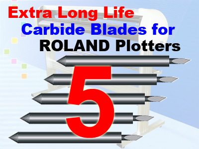 5 Packs Roland / Seiki Compatible Blades (free shipping)
