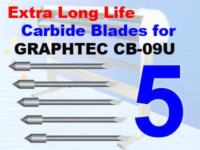 5 Packs GRAPHTEC CB-09U Compatible Blades, Qty Dis/free shipping